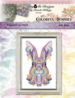 Colorful Bunnies Jelly Bean Counted Cross Stitch Pattern