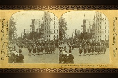 May 1900, The Masonic Parade, Washington, D.C.