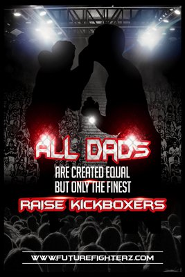 All DADS are created equal Poster - Kickboxing