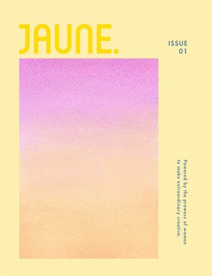 Jaune Magazine Issue 01 \ Cover 8
