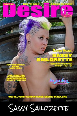 INTENSE DESIRE MAGAZINE COVER POSTER - Cover Model Sassy Sailorette - August 2017