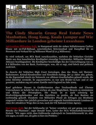 The Cindy Shearin Group Real Estate News Manhattan, Hong Kong, Kuala Lumpur auf Wie Milliardare in London geheime Luxuxhaus