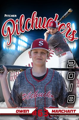 2018 Pilchuckers #63 Owen Blue poster