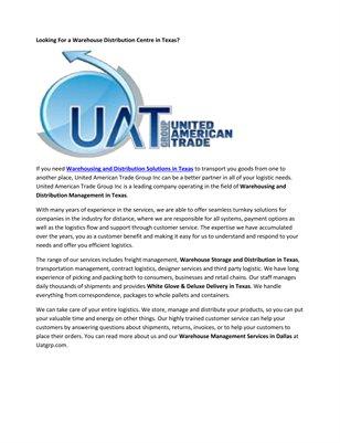 Distribution & Warehousing Network Dallas