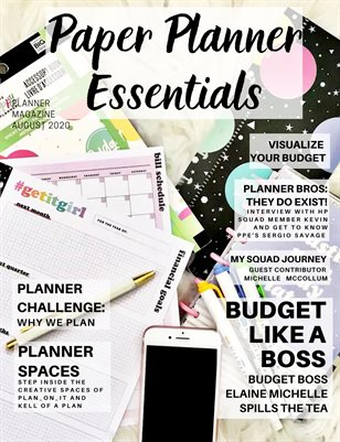Paper Planner Essentials August 2020