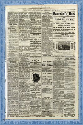 (PAGES 5-6) May 2, 1874 Evansville Daily Journal, Evansville, Indiana