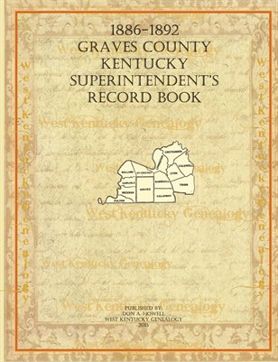 1886-1892 Graves County Superintendent's Record Book