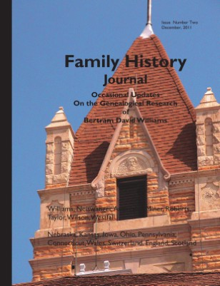 Family History Journal, Occasional Updates on the Genealogical Research of Bertram David Williams