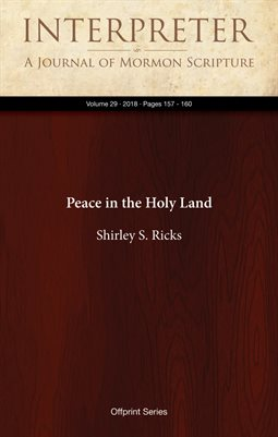 Peace in the Holy Land