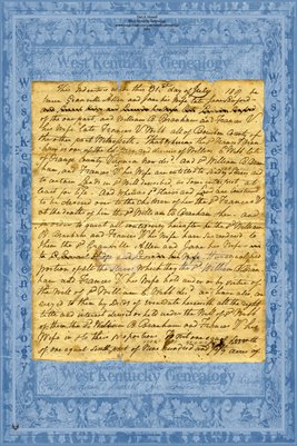 (PAGE 1-2) 1817 Deed, Granville Allen to William B. Branham, Bourbon County, Kentucky