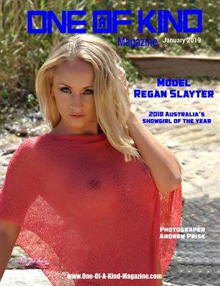 ONE OF A KIND MAGAZINE - Cover Model Regan Slayter - January 2019