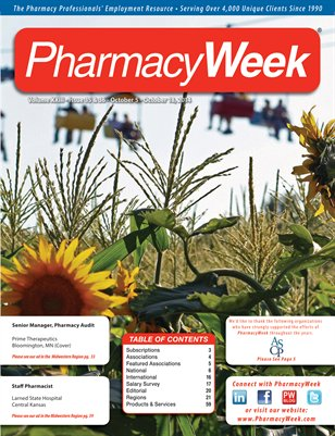 Pharmacy Week, Volume XXIII - Issue 35 & 36 - October 5 - October 18, 2014