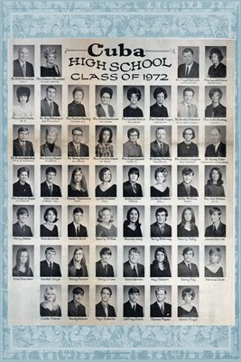 Class of 1972, Cuba High School, Graves County, Kentucky
