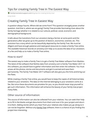 Family Tree Maker Support Number +1-888-299-3207