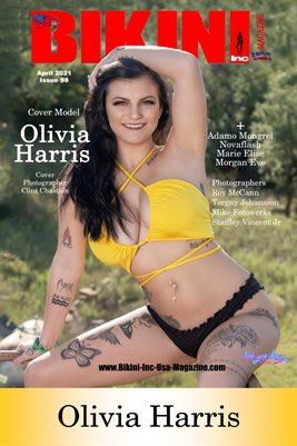 BIKINI INC USA MAGAZINE COVER POSTER - Cover Model Olivia Harris - April 2021