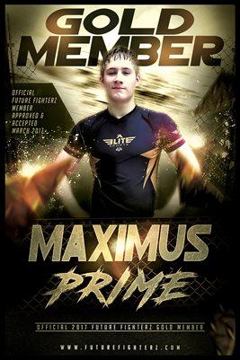12x18 Maximus Prime Gold Member/Diploma Poster
