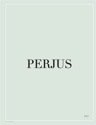 "PERJUS MAGAZINE ISSUE 9 ""MONEYTALK"""