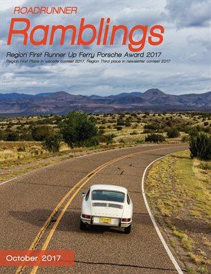 Roadrunner Ramblings, October 2017