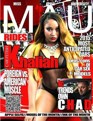MAU MAGAZINE  RIDES ISSUE cover 1