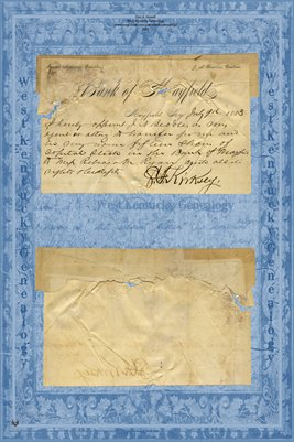 1883 S.F. Kirksey appointing J.N. Beadle his agent to give Rebecca M. Ryan Capital Stock