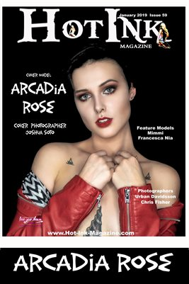 HOT INK MAGAZINE COVER POSTER- Cover Model Arcadia Rose - January 2019