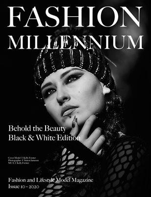 Fashion Millennium Model Magazine Black and White Edition 10