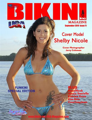 BIKINI INC USA MAGAZINE - FUNKINI SPECIAL EDITION - Cover Model Shelby Nicole September 2019