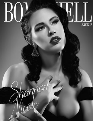 BOMBSHELL Magazine July 2019 BOOK 1 - Shannon Nicole Cover