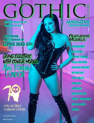 Gothic Culture Magazine July issue 10 variant cover Miss Fortune