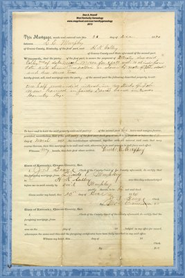 1890 Mortgage, L. E. Murphey - H. K. Colley, Graves County, Kentucky