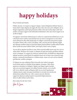 Templates - Holiday   | Flyer Newsletter Template - Red | Magcloud