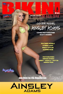 BIKINI INC USA MAGAZINE COVER POSTER - Cover Model Ainsley Adams - June 2018