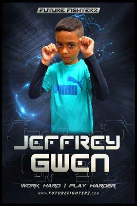Jeffrey Gwen Futuristic Poster