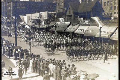 Golden Potlatch, Seattle July 1913 USS California Boys
