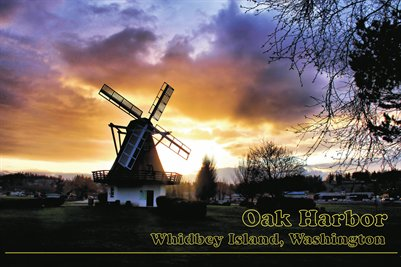 Oak Harbor Windmill Sunset