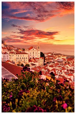 Poster - Sunset in Alfama
