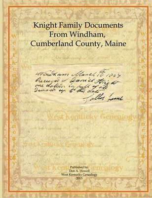 Knight Family Documents, Cumberland County, Maine
