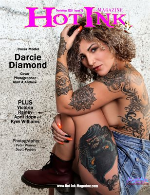 HOT INK MAGAZINE - Cover Model Darcie Diamond - September 2020