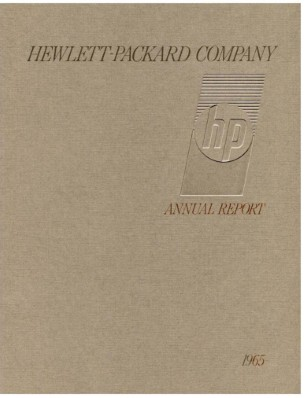 HP Annual Report 1965