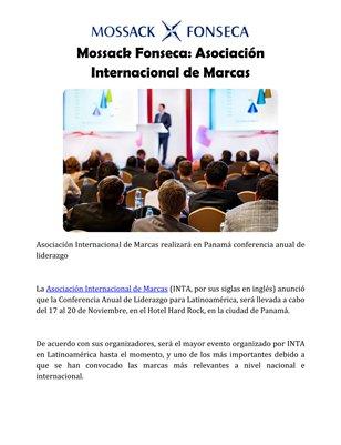 Mossack Fonseca: Asociación Internacional de Marcas