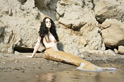 Molly Rennick Coral Mermaid Poster