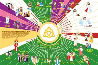 Happy Saints Liturgical Calendar 2021-2022 Year C