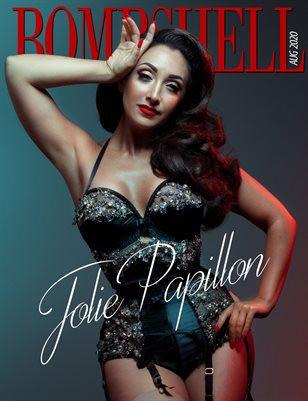 BOMBSHELL Magazine August 2020 - Jolie Papillon Cover
