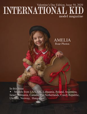 International Kid Model Magazine Issue #50 Valentine's Day