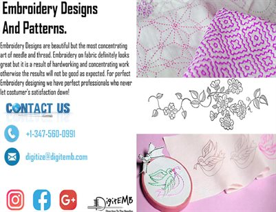 Embroidery Designs And Patterns
