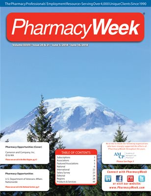 Pharmacy Week, Volume XXVII - Issue 20 & 21 - June 3, 2018 - June 16, 2018