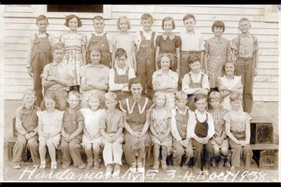 1938 GRADES 3-4 HARDAMAN SCHOOL, GRAVES COUNTY, KENTUCKY