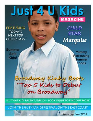 Just 4 U Kids Magazine Summer Edition 2014 - Cover 3