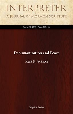 Dehumanization and Peace