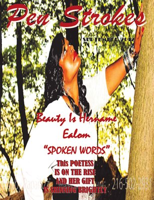 SEPTEMBER ISSUE OF PEN STROKES MAGAZINE BEAUTY COVER